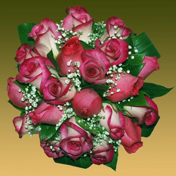 este ramo de dos tonalidades de rosas liatis malvas y fresas blancas este es precioso tambin aunq - Fotos De Ramos De Flores Preciosas
