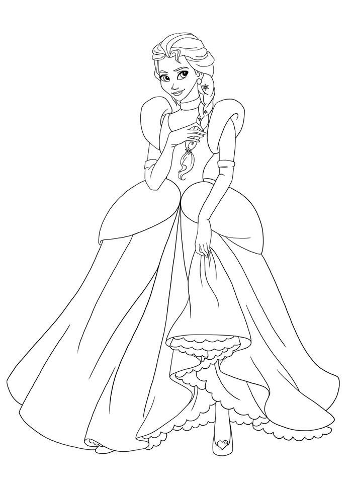 Non Disney Princess Coloring Pages Pictures