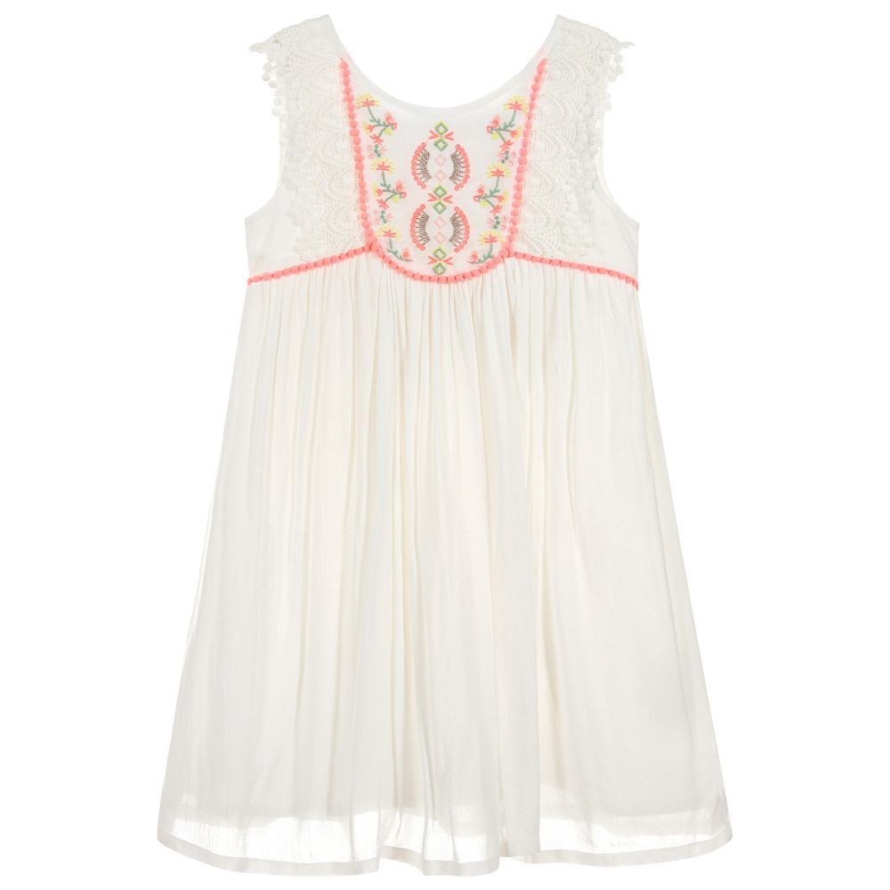 210ef14ba Girls Ivory Viscose Dress