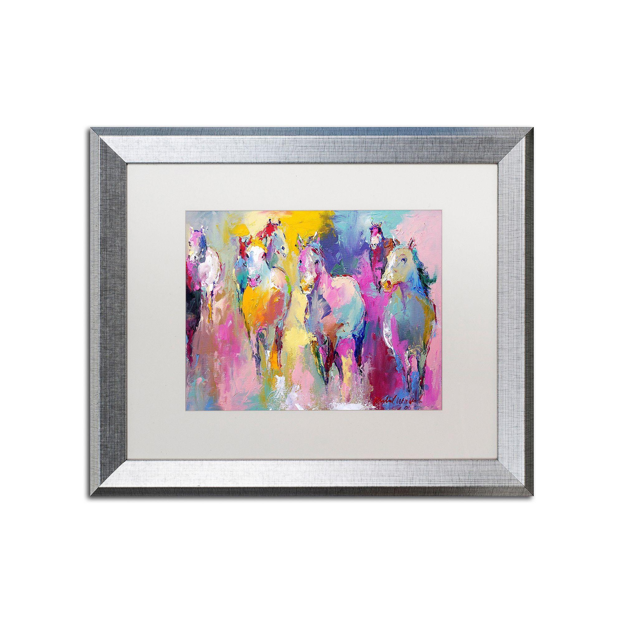Trademark Fine Art Wild Horse Metallic Framed Wall Art | Products ...