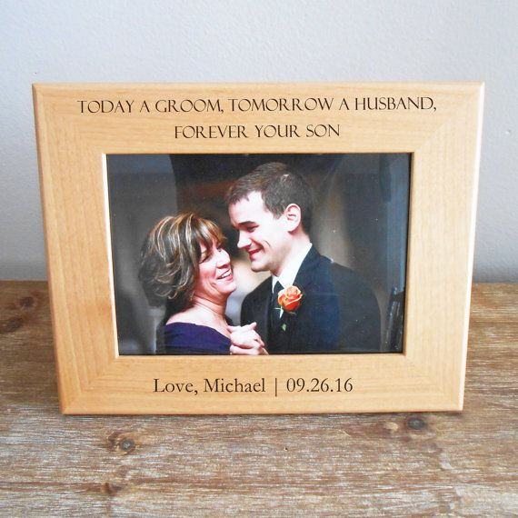 Personalized Mother Of The Groom Picture Frame Engraved Mother Of