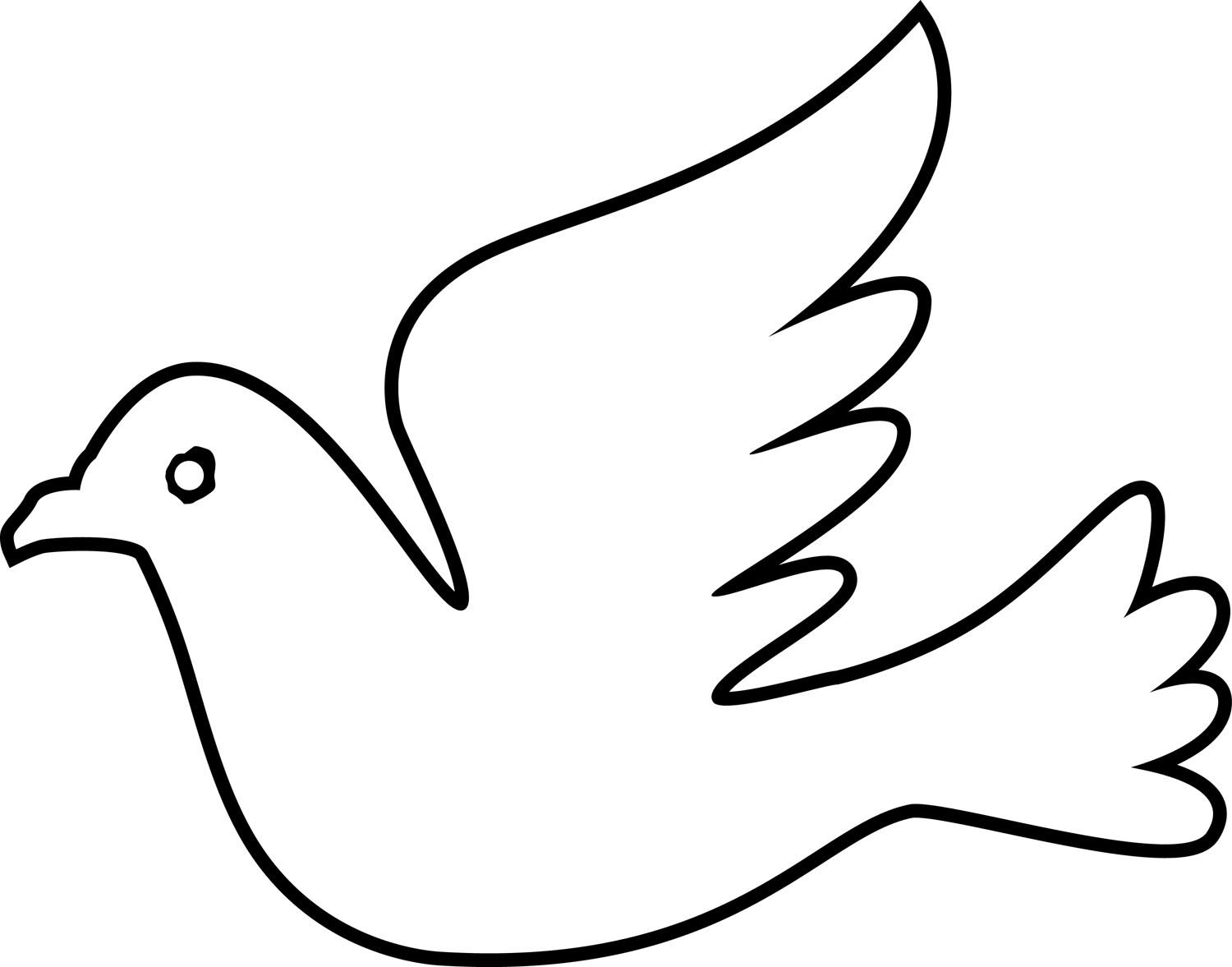 60221 Holy Spirit Dove Coloring Page Jpg 1 500 1 177 Pixels Coloring Pages Coloring Pages For Kids Bird Coloring Pages