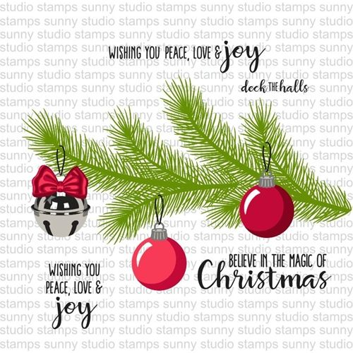 Sunny Studio HOLIDAY STYLE Clear Stamp Set SSCL142 Preview Image