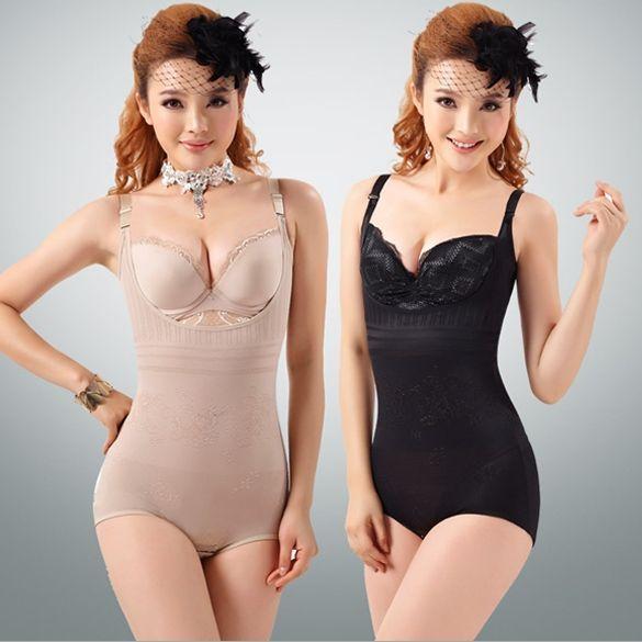 8d09896669a23 Black Tummy Suit Control Girdler Underbust Slimming Shapewear Full Body  Shaper Firm