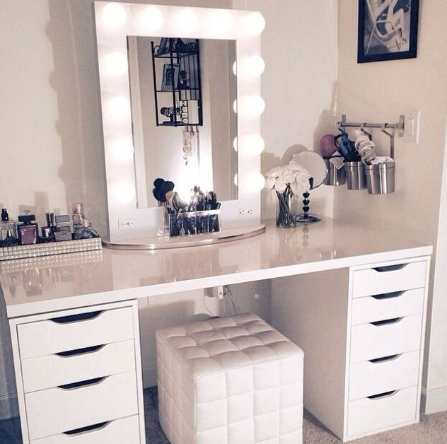 diy lighted makeup vanity. So Today I Went To IKEA With Mum And Ended Up Getting Lots Of Makeup  Storage Bits Kit Out My New Room Not The One In Picture That S Just Pin By Cesia Mu Oz On Apartment Decor Pinterest Bedrooms Room