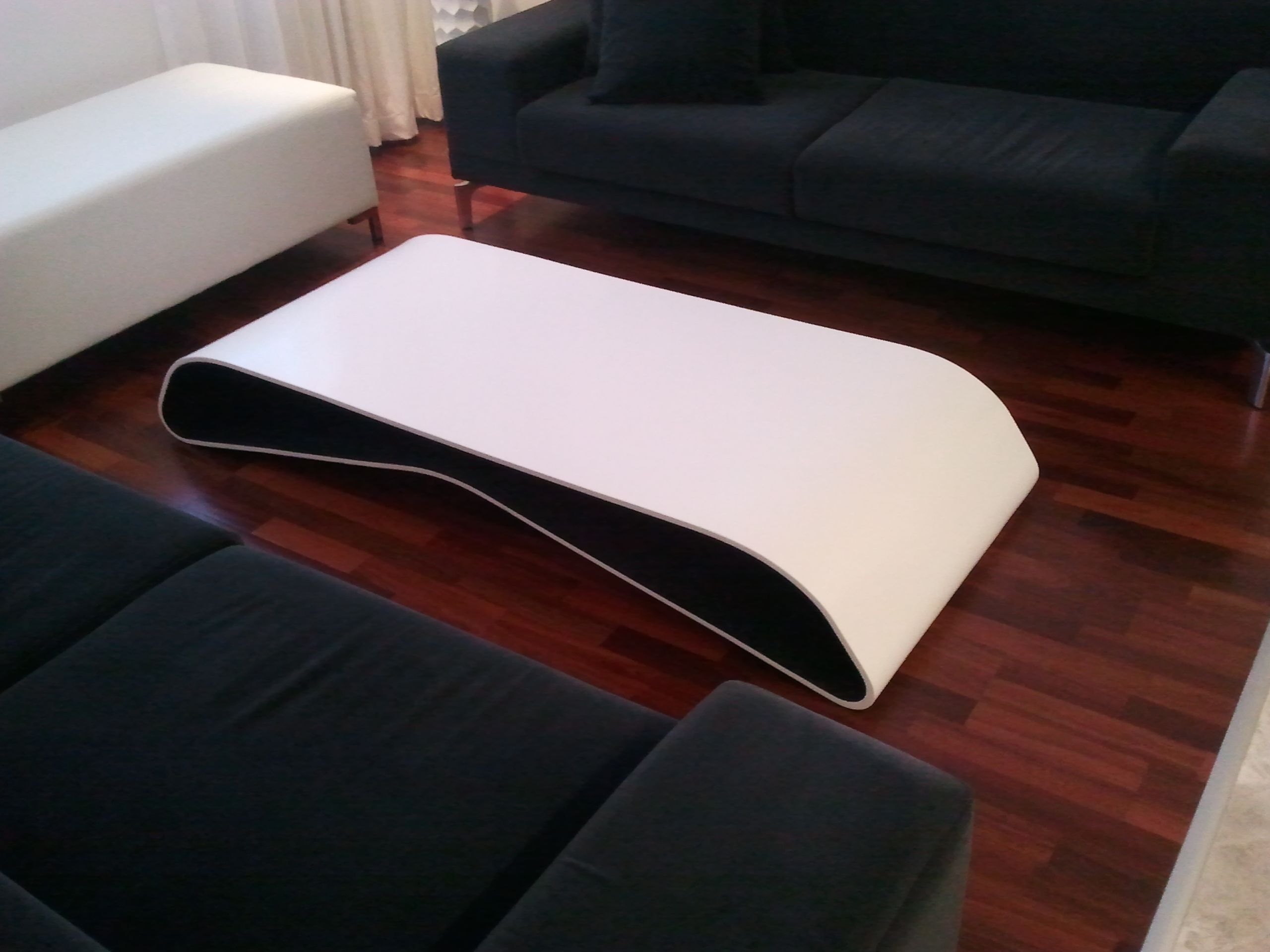 corian coffee table by techno surfaces corian glacier. Black Bedroom Furniture Sets. Home Design Ideas