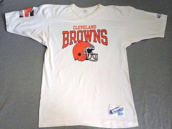 1e845980 CLEVELAND BROWNS 80s Vintage Jersey/ Rare Original USA Made Champion ...
