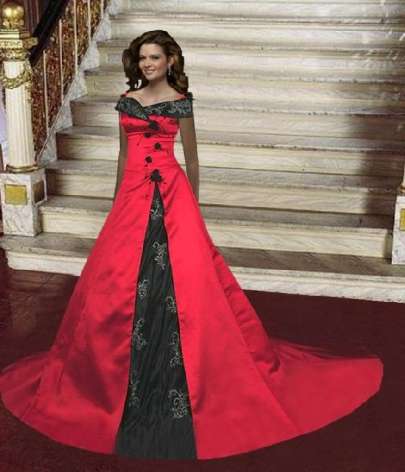 Red Gothic Wedding Dress