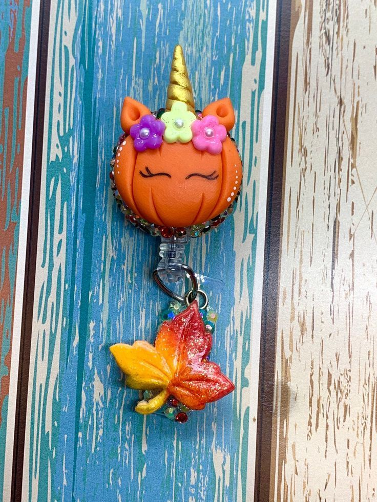 Halloween Pumpkin ID Badge Reel , Retractable ID Badge Holder , Nursing Students , Stethoscope ID Tags , Designer Badge Reel , Name Tags #nursingstudents