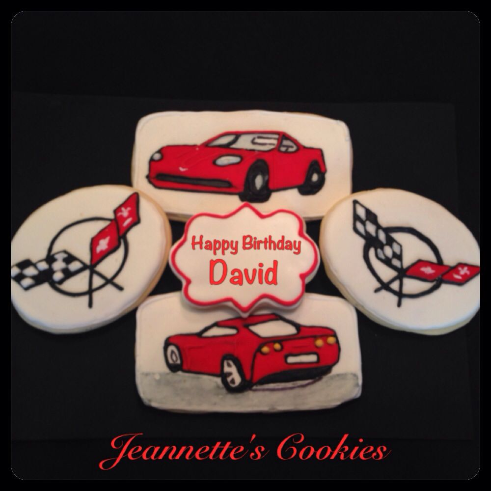 Corvette Cookies By Jeannette S Cookies Beautiful