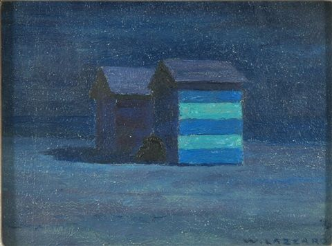 Artist: Walter Lazzaro (Italian, 1914–1989)  Title: Chiaro di luna  Medium: oil on masonite Size: 18 x 24 cm. (7.1 x 9.4 in.)
