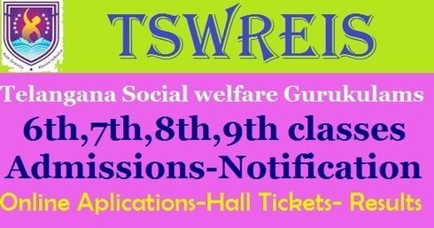 TSWREIS 6th to 9th Class Admissions Results- Selection List