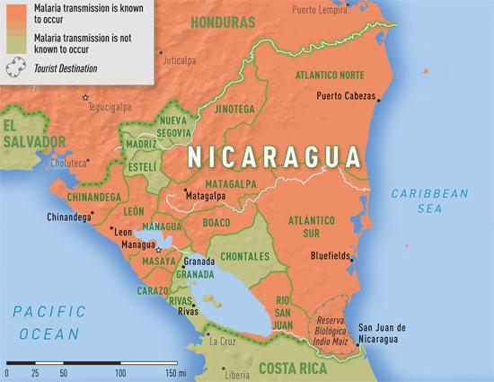 Map 335 Malaria transmission areas in Nicaragua NICARAGUA