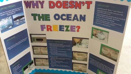 Science project why doesnt the ocean freeze ryan stuff science project why doesnt the ocean freeze ryan stuff pinterest ocean science fair and fair projects sciox Image collections