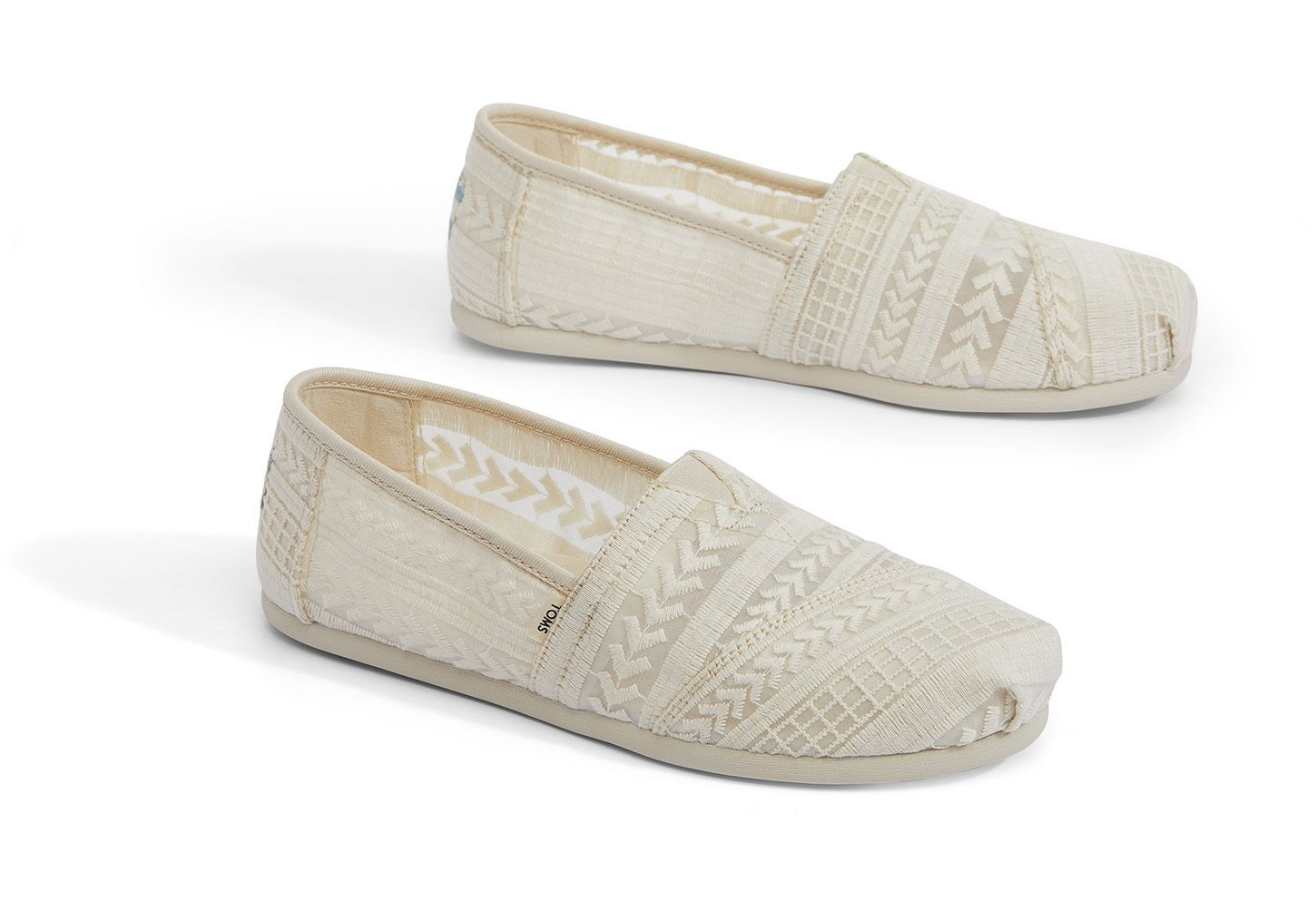 Natural Arrow Embroidered Mesh Women's
