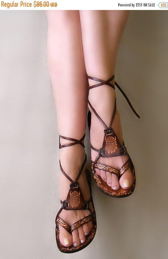 New Ladies Grey or Beige Strappy Gladiator Summer Boho Sandals RRP £20