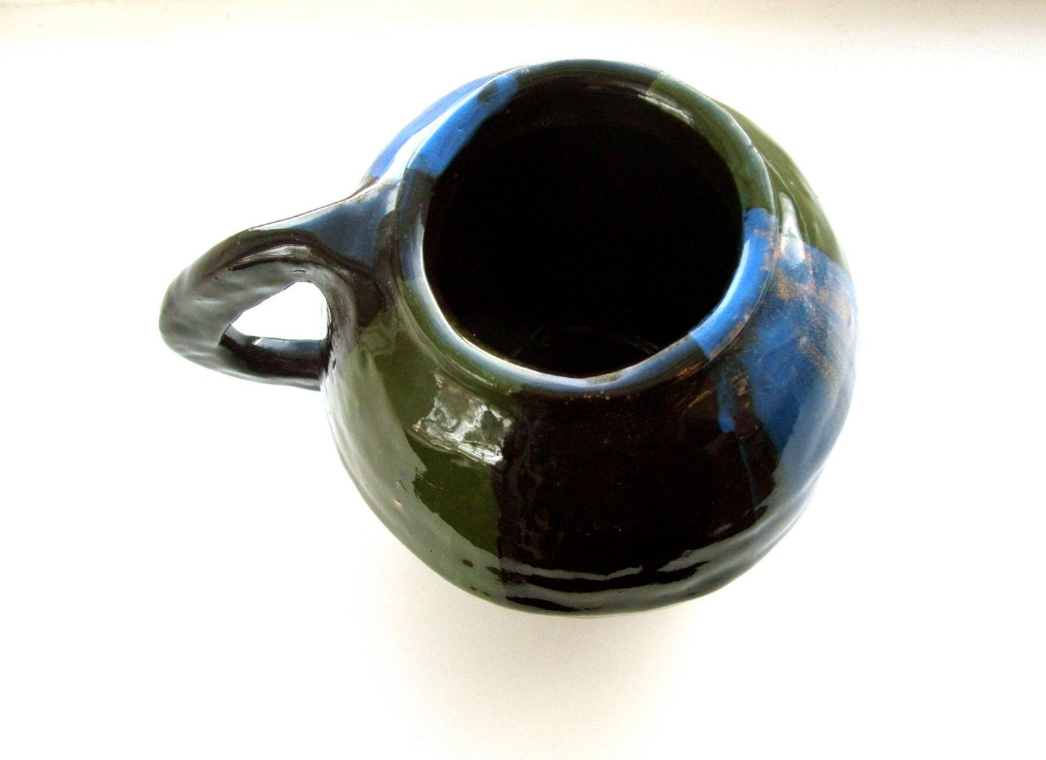 Handmade Vintage Heavy Duty Art Pottery Mug by lookonmytreasures on Etsy