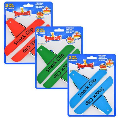Plastic Power Clips Assorted Bag Clips, 2-ct. Pack