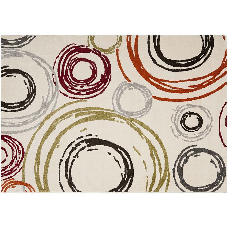 Safavieh Porcello Concentric Circles Rug, White
