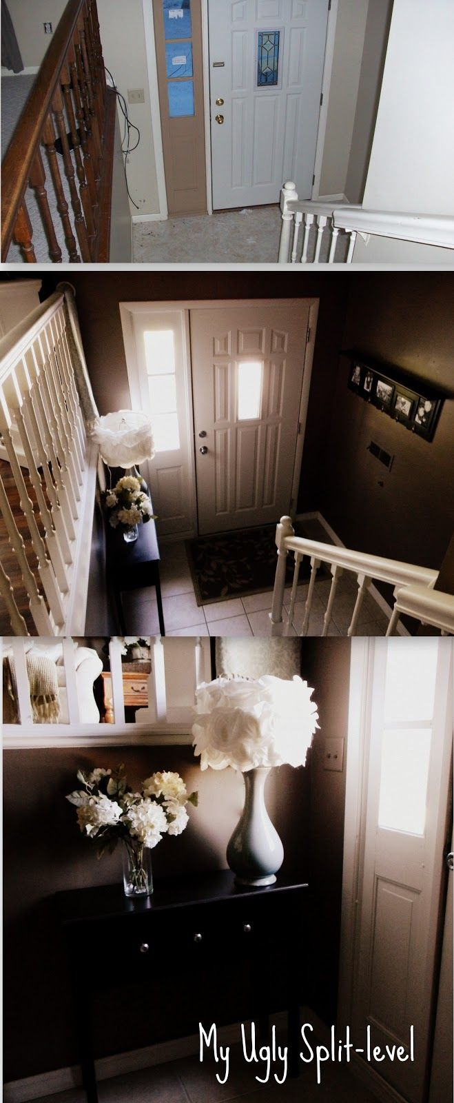 A Split Level Gets A Praire Style Facelift In Mclean Va: My Ugly Split-level: Entryway