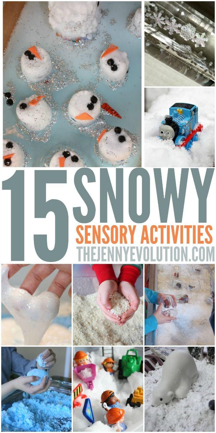 Winter Sensory Snow Activities Snow Activities Sensory