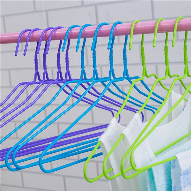 Hot Sales household coated metal hanger PE Plastic Coated Wire Thick ...