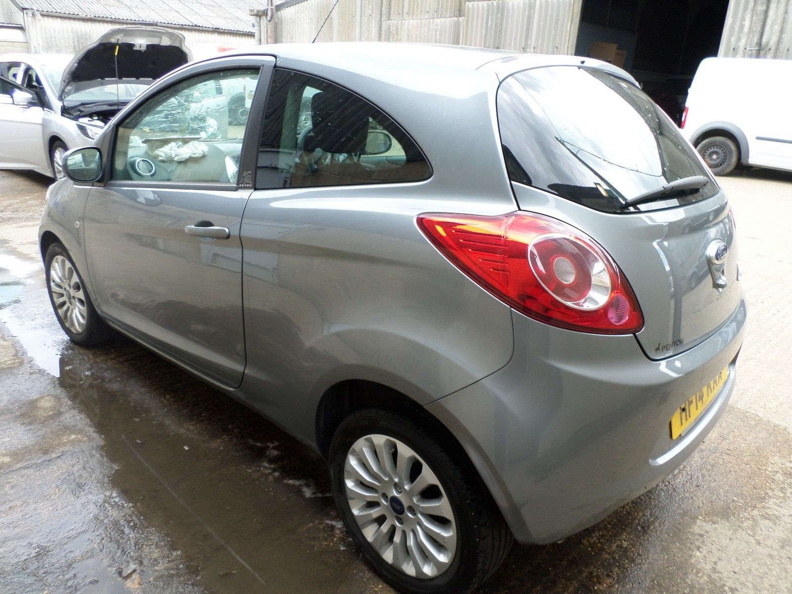 Ebay 2014 14 Ford Ka Zetec Grey Hpi Clear 20 000 Miles Damaged