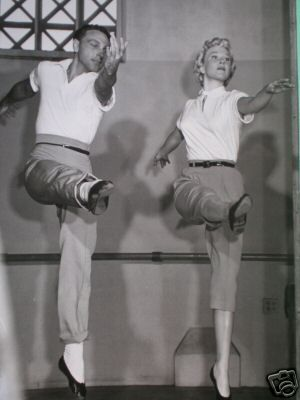 "Dance rehearsals for ""Tea for Two"". Doris Day and Gene Kelly"