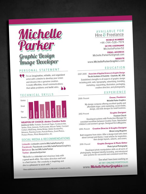 Cool Resume Designs Such A Cool Resume Cv & Resume Designsmichelle Makar Parker