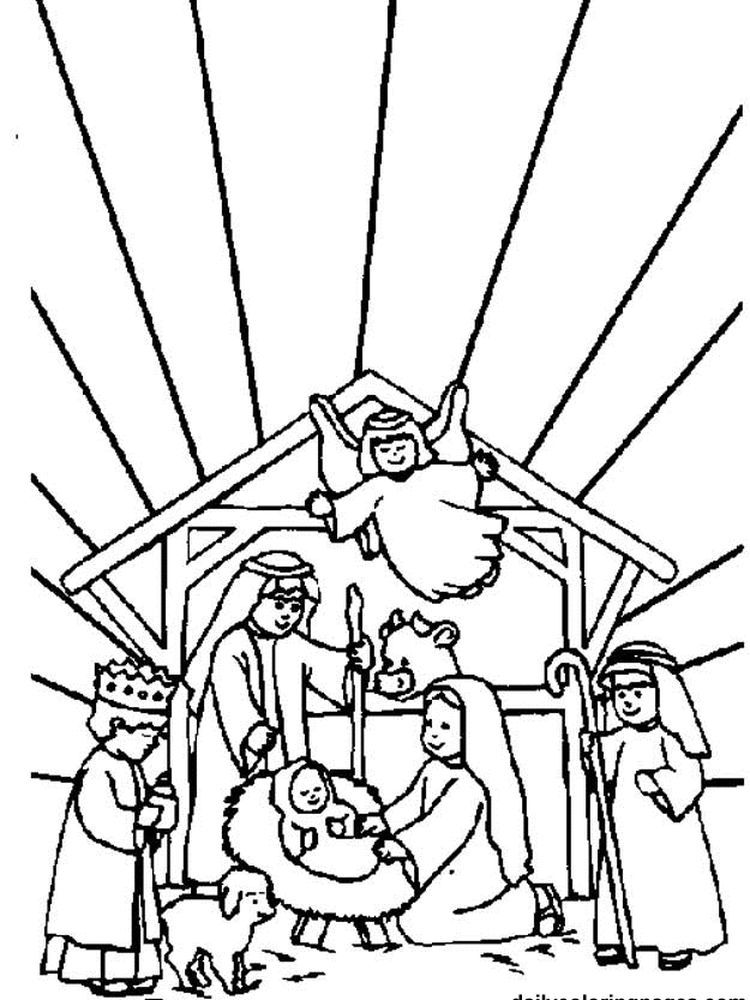 Nativity Scene Coloring Pages Printable The Following Is Our Collection Of Nativity Scene Col Jesus Coloring Pages Coloring Pages Inspirational Coloring Pages