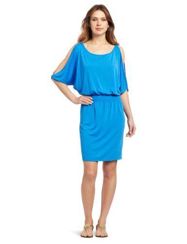 Echo Design Women's Solid Open Shoulder Dress, Primary Blue, Small echo design,http://www.amazon.com/dp/B009OYLD1S/ref=cm_sw_r_pi_dp_srD4sb04PY3W1KA8