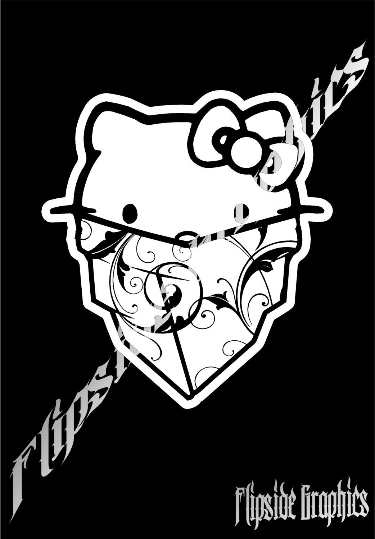 Hello Kitty Decal Swirl Design Bandana Custom Windows Cars Trucks Tailgates Laptop Bumper Stickers 2x 14 95 Vinyl Bumper Stickers Skull Decal Bumper Stickers [ 1500 x 1042 Pixel ]