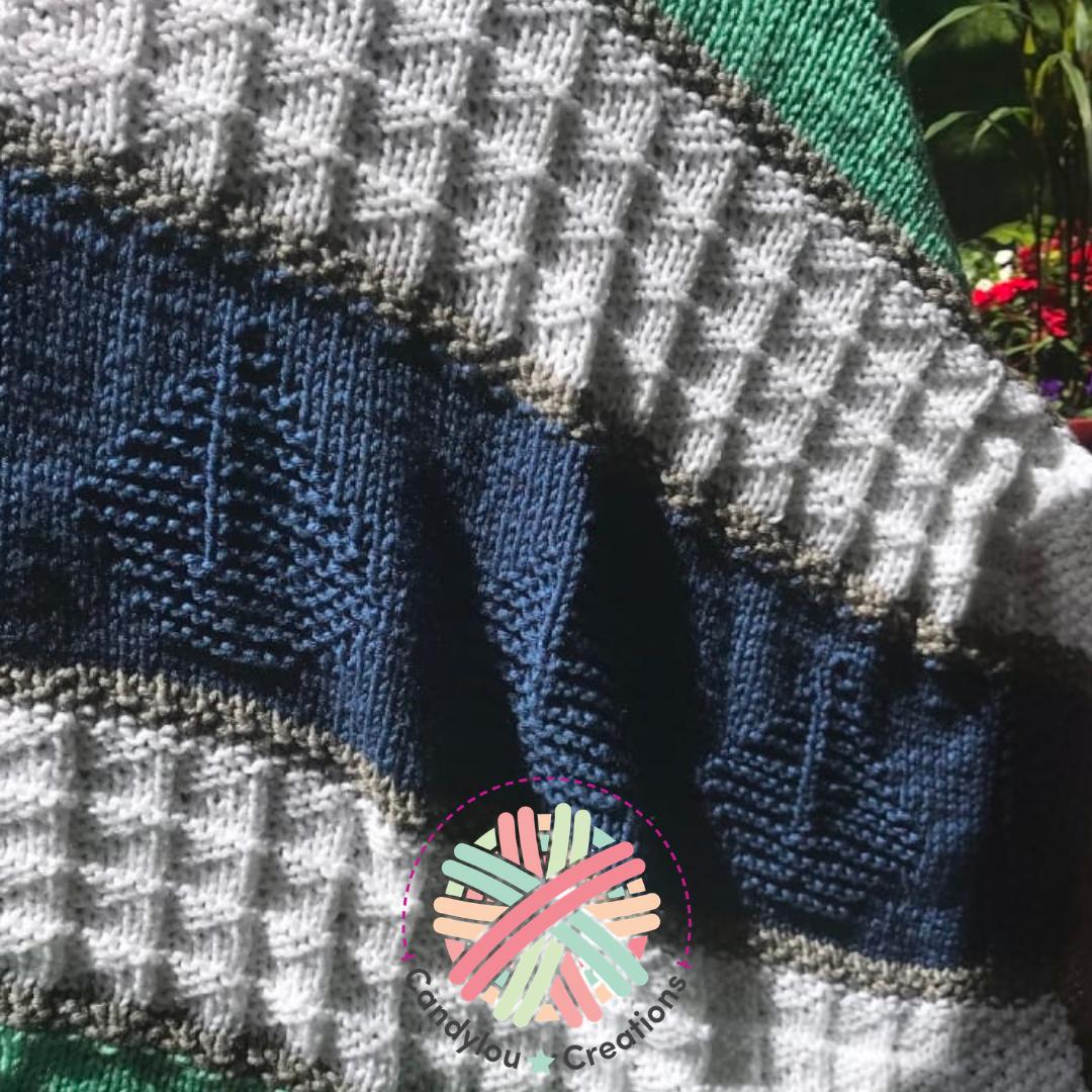 Sleepy Time Sailboats Knit Baby Blanket Pattern | Nautical ...