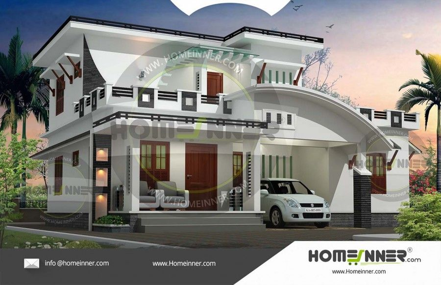 3bhk Contemporary Home Part - 37: 2232 Sq Ft 3Bhk Modern Contemporary Indian Home Plan