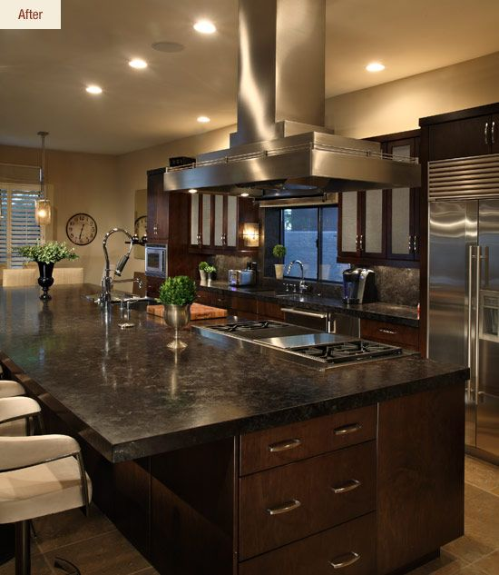 25 Absolutely Gorgeous Transitional Style Kitchen Ideas: Island Cooktop....Google Image Result For Http://www