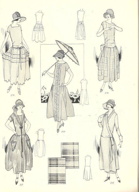 Vintage Sewing Pattern Instructions 1920s Easy Basque Dress Ebook ...