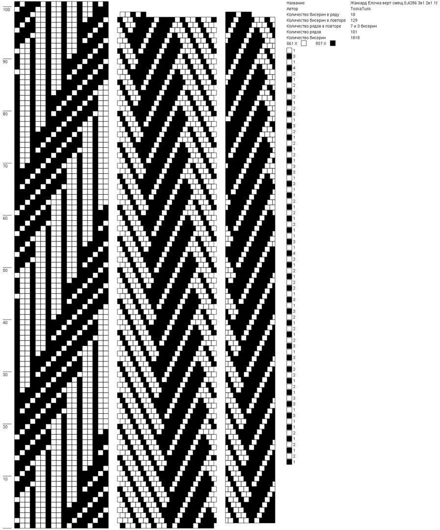 Pin von Veronika Szabó auf Bead crochet | Pinterest | Perlenkette ...