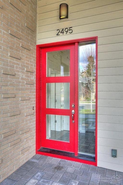 Contemporary Front Door with Glass panel door, exterior ...
