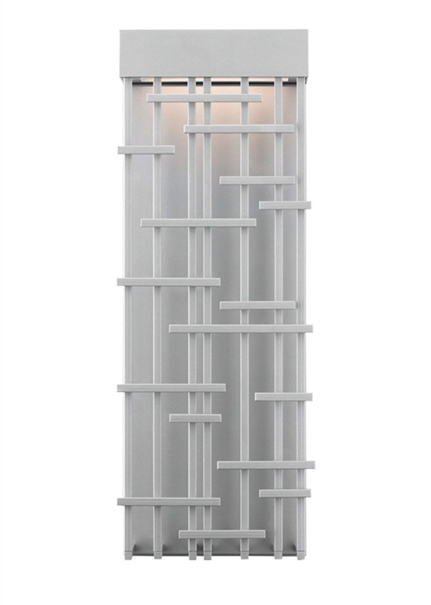 Lbl lighting odsiledw pier led inch silver outdoor wall
