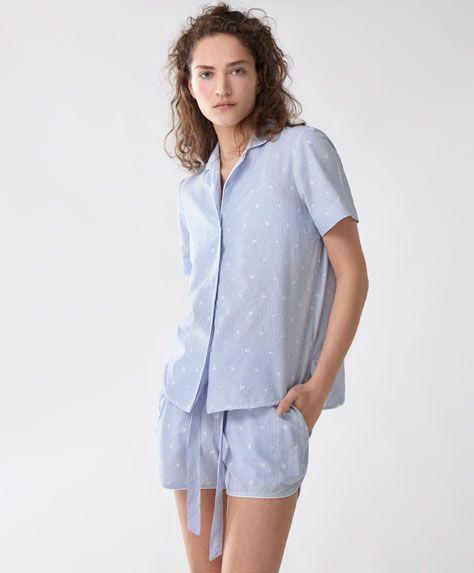 42cece09e483 HOMEWEAR - All that blue - Collection - Tendances printemps été 2017 en  mode femme chez OYSHO online   lingerie