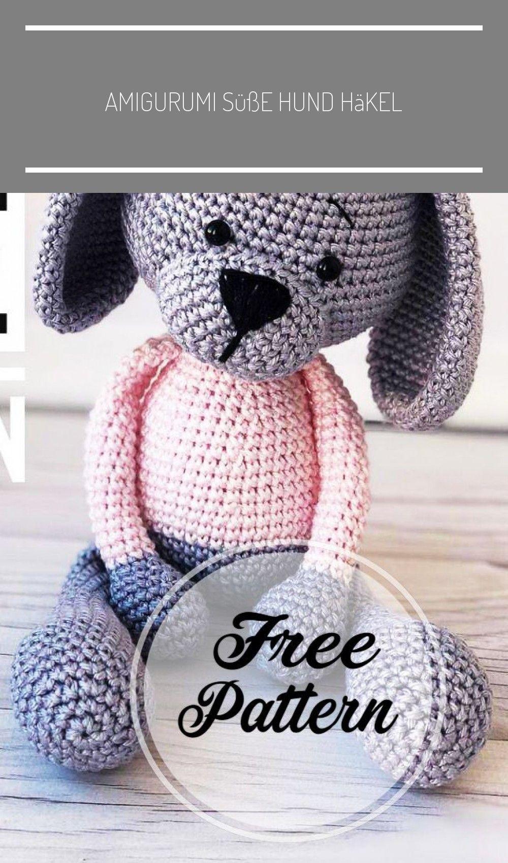 Amigurumi süße Hund häkeln frei Muster Teil 20 ; amigurumi häkeln ...