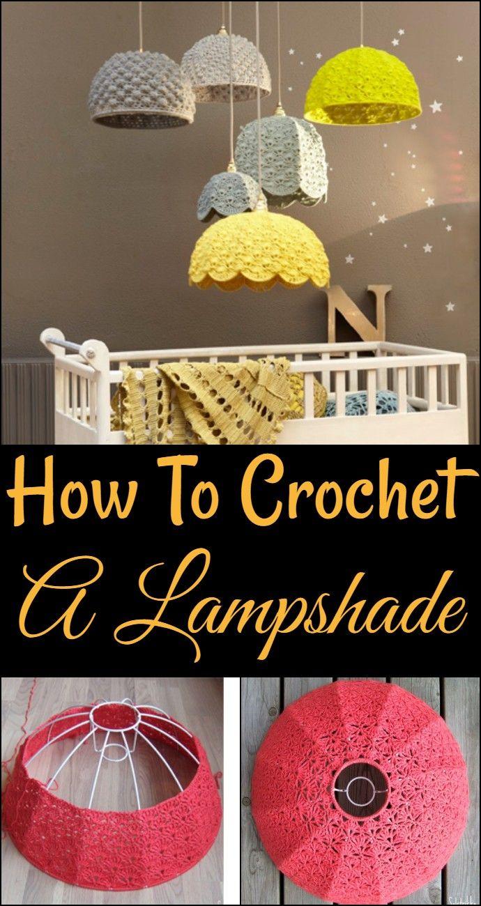 Free Crochet Lampshade – Easy Crochet Lampshade #crochethooks