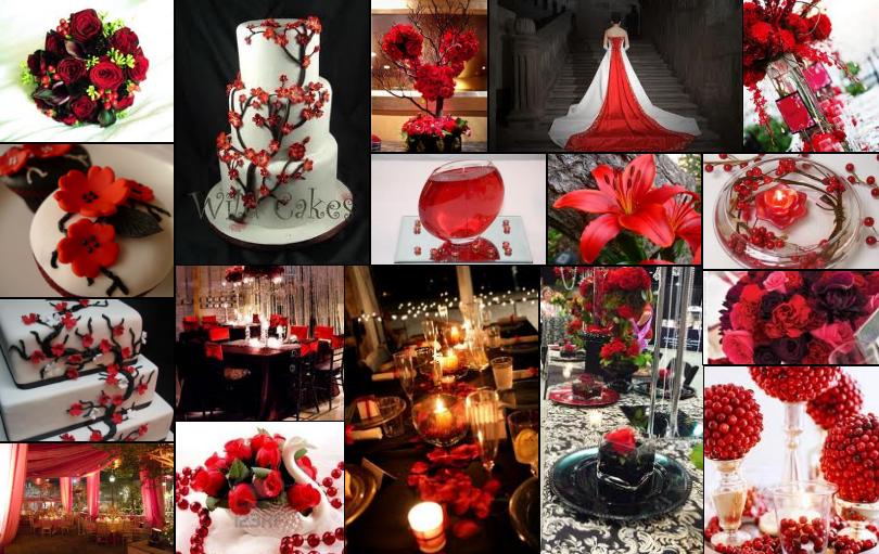 Ideas For Red Black White Wedding Theme