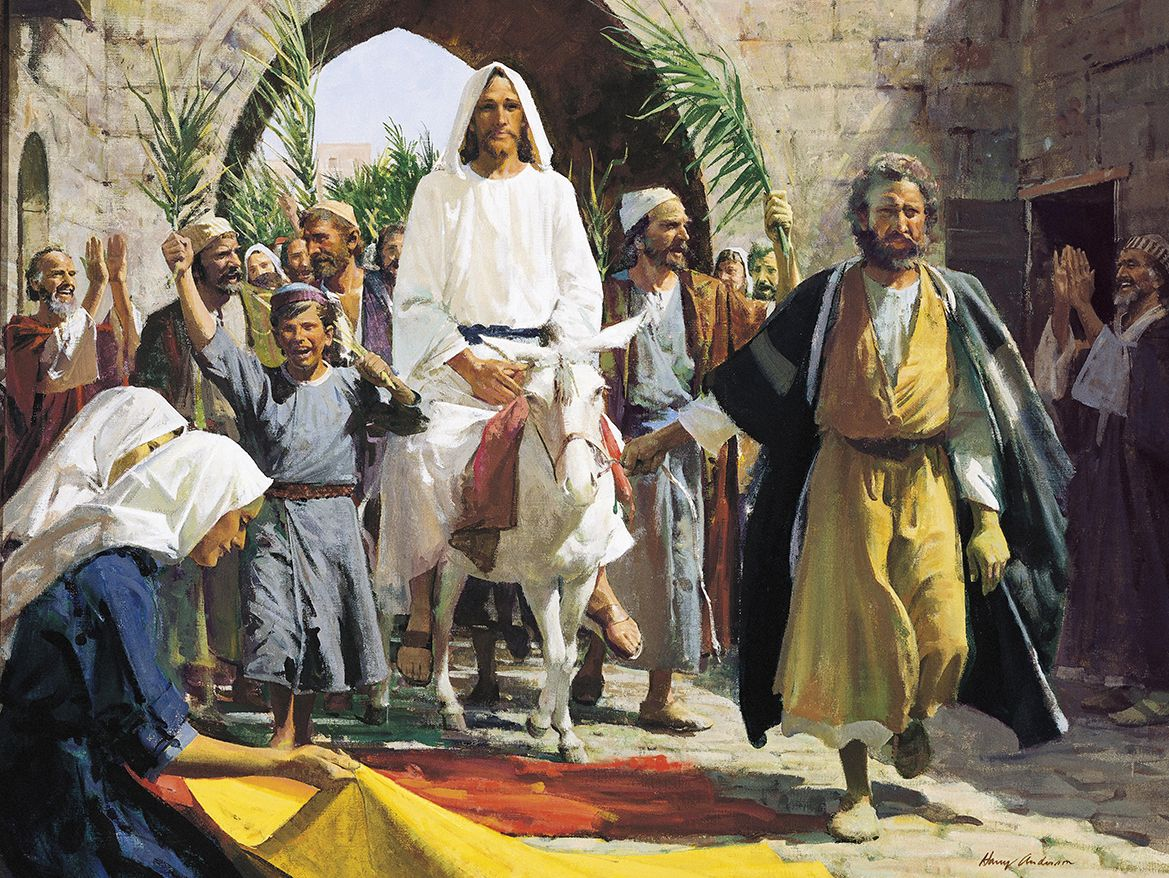 Christ S Triumphal Entry Into Jerusalem By Harry Anderson