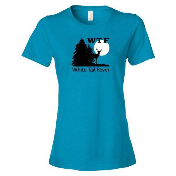 Ladies tee - 'WTF' - white Tail Fever