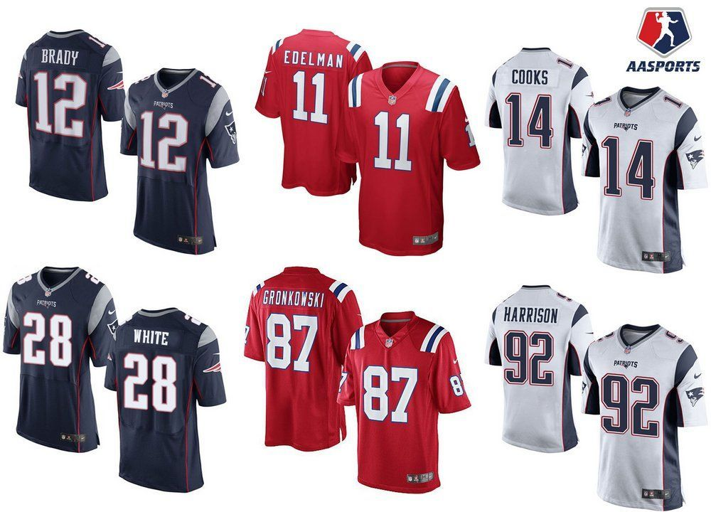 Camisa New England Patriots - 12 Brady - 92 Harrison - 28 White - 33 Lewis 74ce5a41fb73b