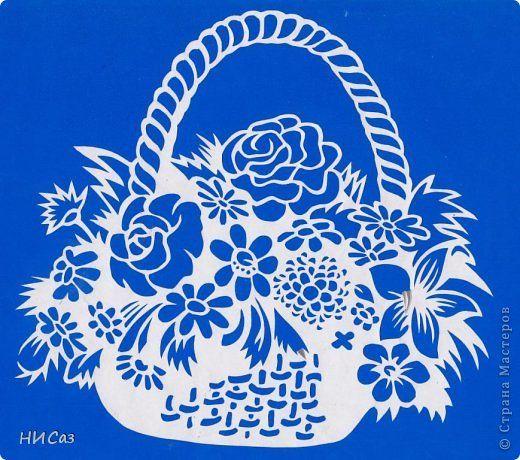 Корзинка с цветами фото 1 | Шаблоны трафаретов, Обрезание ...