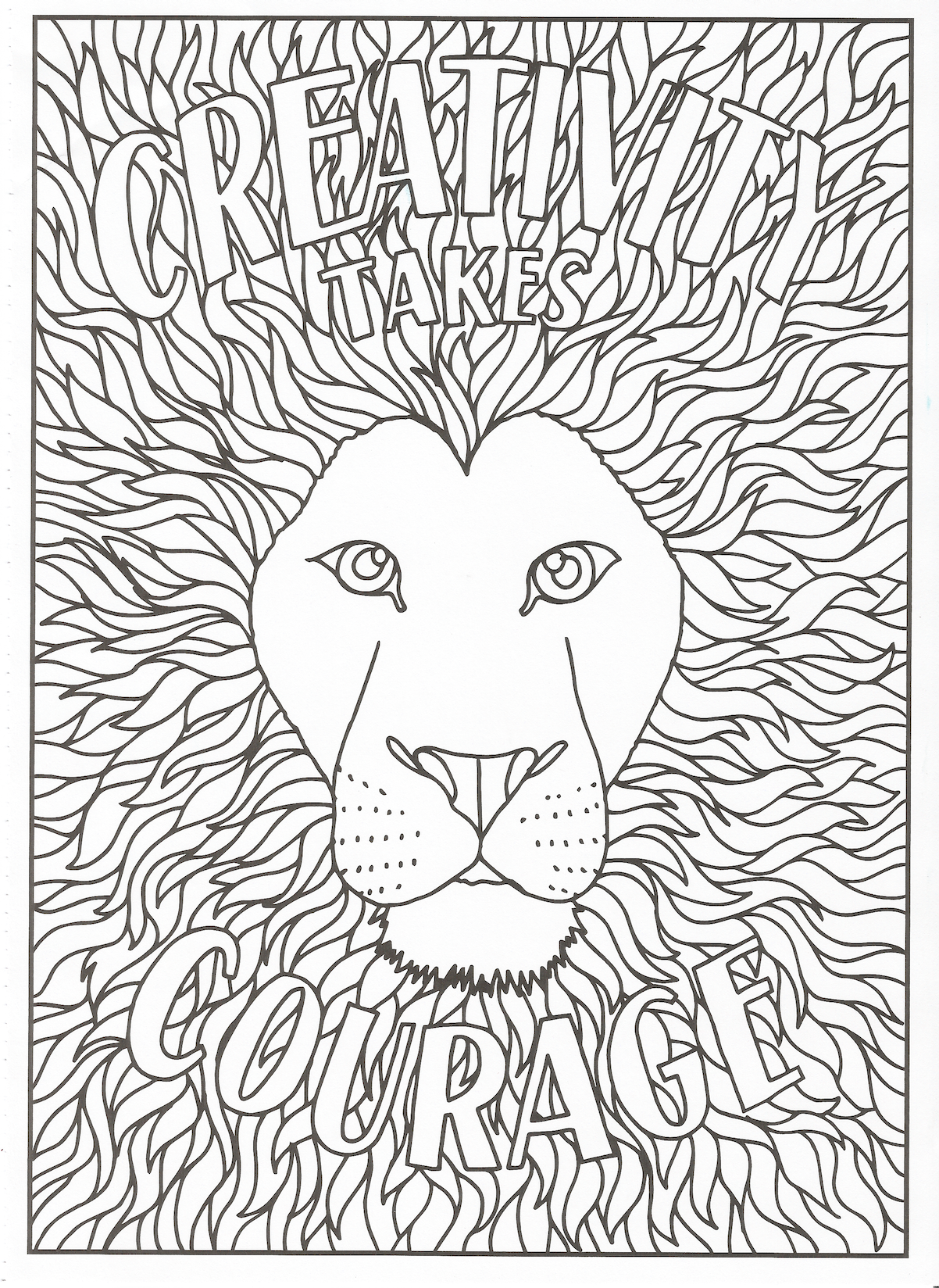 Timeless Creations - Creative Quotes Coloring Page ... | printable courage quotes coloring pages