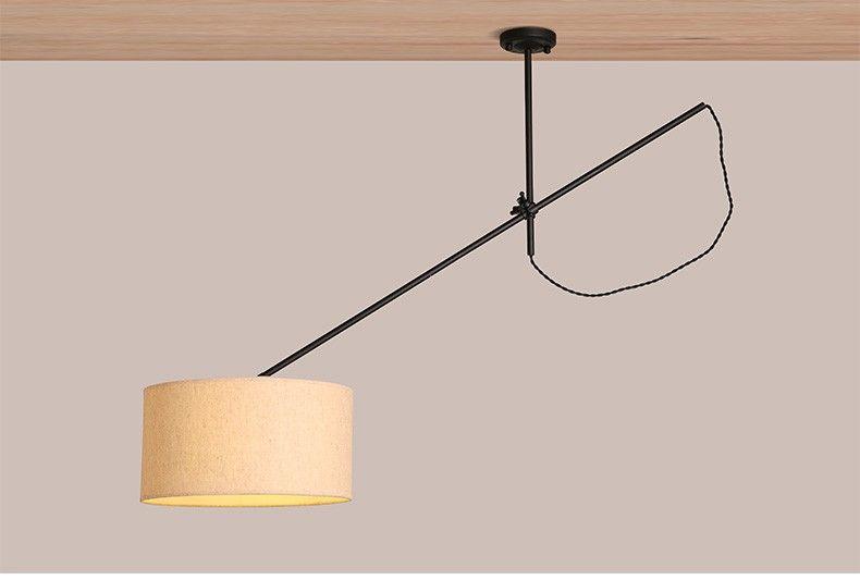Northern Europe VIntage Iron Pendant Lights Adjustable Long Arm Dining Room Light Studio