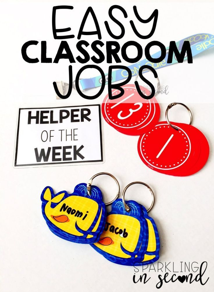 Classroom jobs can be hectic and hard to keep up with. Here's a simple solution for easy, headache-free classroom jobs!
